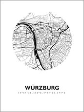Gallery print  City map of Würzburg - 44spaces