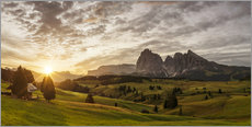Wall sticker  Sunrise at Alpe di Siusi - Dieter Meyrl