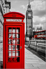 Wall Sticker  London telephone box and Big Ben - Art Couture