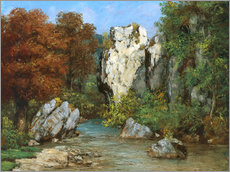 Gallery Print  Landscape by the stream - Gustave Courbet