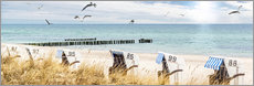 Gallery print  Beach day at the Baltic Sea - Art Couture