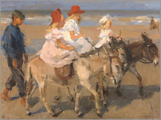 Wall sticker  Donkey rides on the beach - Isaac Israels