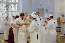 Wall sticker  The surgeon Evgeny Pavlov in the operating room - Ilya Efimovich Repin