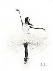 Aluminium print  The white swan - Ashvin Harrison