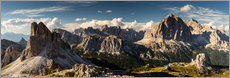 Canvas  Rugged panorama of the Dolomites - Mikolaj Gospodarek
