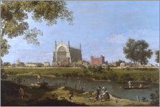 Wood print  Eton College Chapel - Antonio Canaletto
