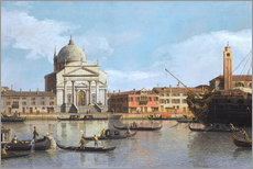 Acrylic print  Churches of the Redentore and San Giacomo - Antonio Canaletto
