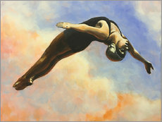 Sarah Morrissette - Diver and orange clouds