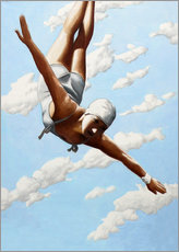 Aluminium print  Diver in the clouds - Sarah Morrissette