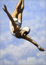 Poster Diver in the clouds II