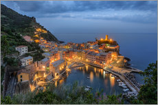 Premium poster Vernazza in the evening, Cinque Terre