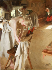 Premium poster  Sunday morning - Anders Leonard Zorn