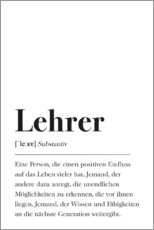 Premium poster Lehrer Definition (German)