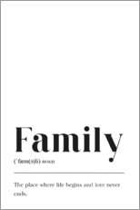 Acrylic print  Family Definition - Pulse of Art
