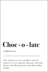 Aluminium print  Chocolate Definition - Pulse of Art