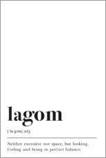Foam board print  Lagom Definition - Pulse of Art