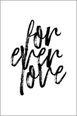 Acrylic glass  Forever love quote - Martina illustration