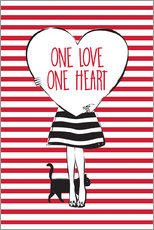 Martina illustration - Girl with a heart