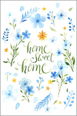 Foam board print  Blue flowers - Nadine Conrad