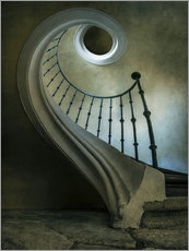 Poster Pretty spiral staircase