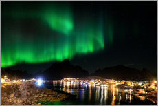 Gallery print  Northern lights over Reine, Lofoten, Norway - Circumnavigation