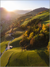 Premium poster  Autumn in the valley, South Tyrol, Italy - Matteo Colombo