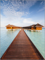 Premium poster  Pier in luxury resort, Maldives - Matteo Colombo