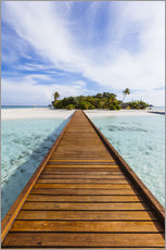 Acrylic glass  Jetty to dream island in the Maldives - Matteo Colombo