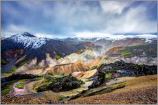 Canvas print  Landmannalaugar Colorful mountains - Meinolf Lipka