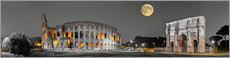 Poster  Colosseum in the moonlight - Art Couture
