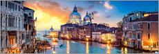Acrylic glass  Venice in the evening - Art Couture