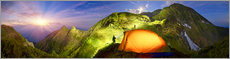 Acrylic glass  Camping above the clouds - Art Couture
