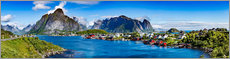 Wall Sticker  Panorama of Lofoten Archipelago - Art Couture