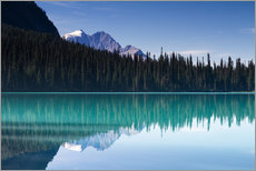 Premium poster Reflection on Emerald Lake, British Columbia, Canada