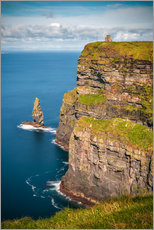 Premium poster  Cliffs of Moher Castle, Ireland - Sören Bartosch