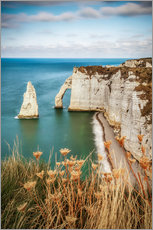 Acrylic print  View of the cliffs of Etretat, France, Normandy - Sören Bartosch