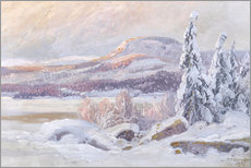 Wood print  Winter landscape - Carl Brandt