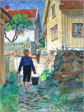 Canvas print  Boy brings water - Carl Wilhelm Wilhelmson