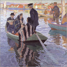 Gallery print  Church Goers in a Boat - Carl Wilhelm Wilhelmson