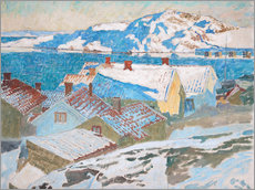 Wall sticker  Winter landscape at Kvarnberget - Carl Wilhelm Wilhelmson