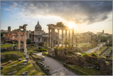 Premium poster The Roman Forum in Rome, Italy