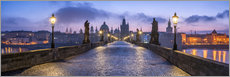 Premium poster  Panorama of the Charles Bridge in Prague, Czech Republic - Jan Christopher Becke