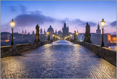 Premium poster  Charles Bridge in Prague, Czech Republic - Jan Christopher Becke