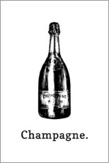 Foam board print  Champagne bottle - Typobox
