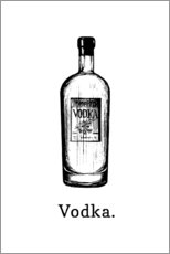 Poster  Vodka bottle - Typobox