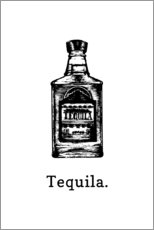 Aluminium print  Tequila bottle - Typobox