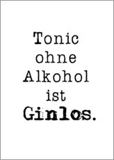 Poster Tonic without alcohol