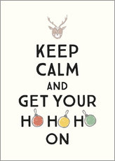 Acrylic glass  Keep calm and get your Hohoho on - Typobox