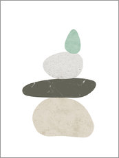 Canvas print  Pebbles 3 - Nouveau Prints