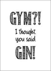 Aluminium print  Gym or Gin - Typobox